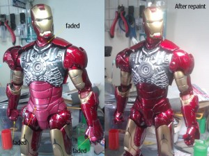 mk6 compare 300x225 How i fix Hot Toys Ironman Mk3 pink armor.