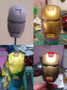 head 225x300 Hot Toys Iron Man mk 3 repaint part 1