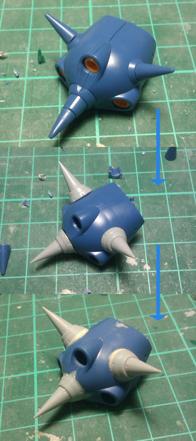horn WIP: HGUC Kampfer part 3