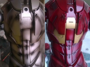 shading 300x225 Hot Toys Iron Man mk 3 repaint part 2.