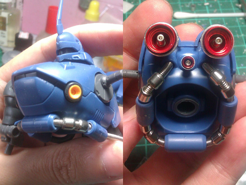 waist WIP: HGUC Kampfer part 3